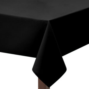 Black Square Tablecloth in Bi-Stretch