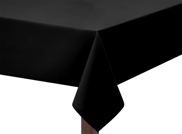 Black Square Tablecloth in Bi-Stretch
