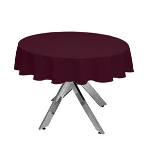 Round Burgundy Tablecloth