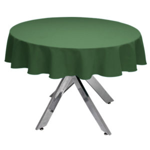 Forest Green Round Tablecloth