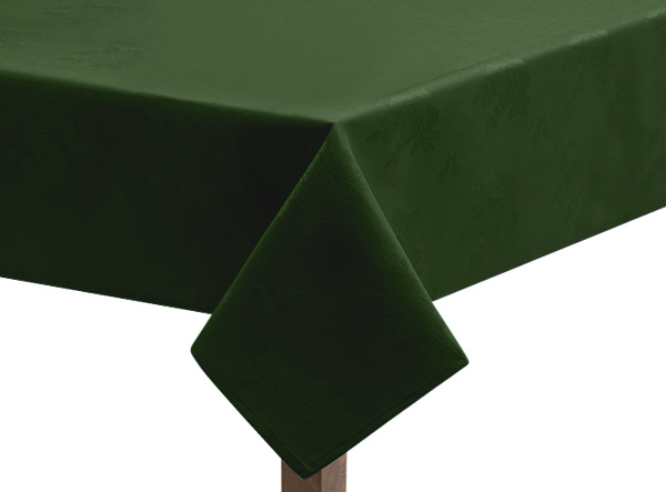 Damask Rose Forest Green Tablecloth