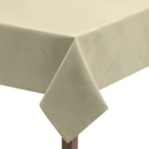 Damask Rose Ivory Tablecloth
