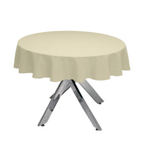 Ivory Round Tablecloth