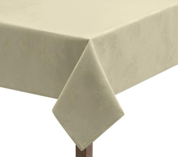 Damask Rose Ivory Tablecloth