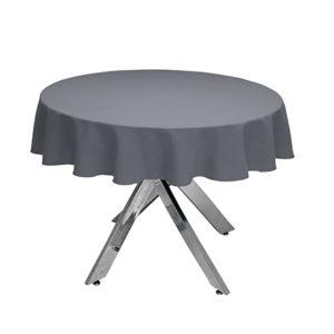 Light Grey Round Tablecloth