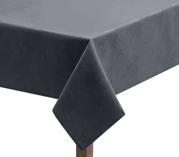 Damask Rose light grey Tablecloth in Light Grey