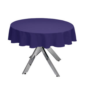 Purple Round Tablecloth