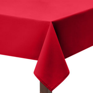 100% Heavy cotton Red tablecloth