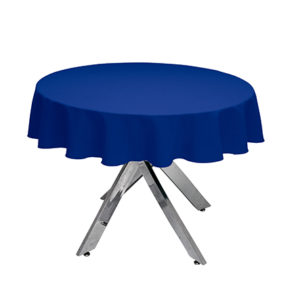 Royal Blue Round Tablecloth