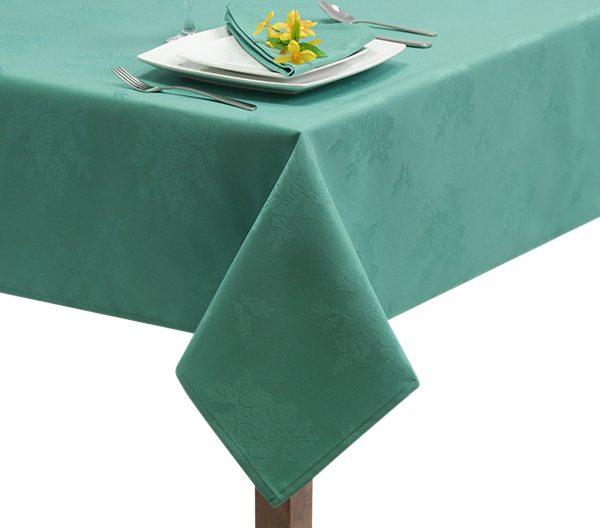 Damask Rose Seafoam Tablecloth in Seafoam