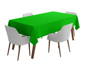 Apple Green Bi-Stretch Tablecloth Square/Rectangle Standard Sizes