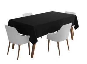 Black Bi-Stretch Tablecloth Square/Rectangle Standard Sizes