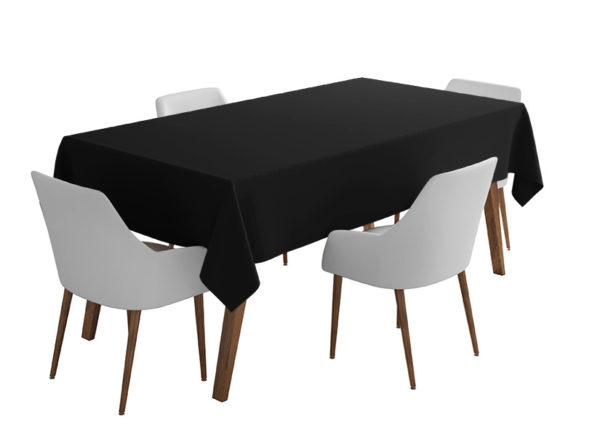 Black Bi-Stretch Tablecloth Square/Rectangle Standard Sizes