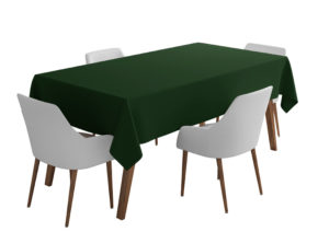 Bottle Green Bi-Stretch Tablecloth Square/Rectangle Standard Sizes