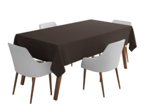 Brown Bi-Stretch Tablecloth Square/Rectangle Standard Sizes