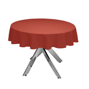 Terracotta Round Tablecloth