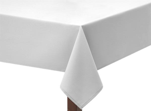 White Hessian Linen Tablecloth