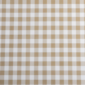 Round PVC Tablecloth in Gingham Beige