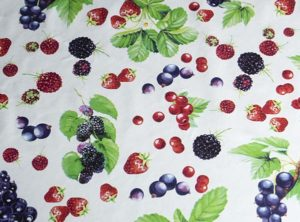 PVC Berries Tablecloth