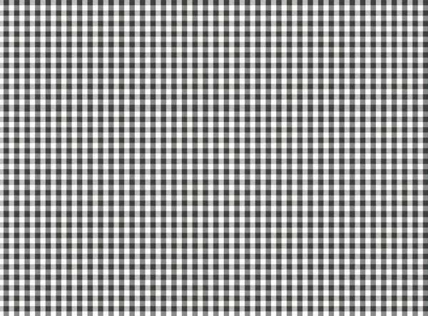 Round PVC Tablecloth in Gingham Black