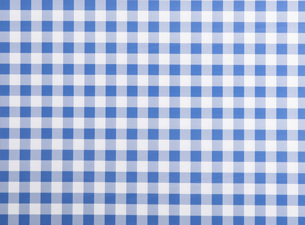 Round PVC Tablecloth in Gingham Royal Blue