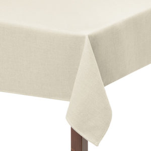 Ivory Basket Weave Square Tablecloth
