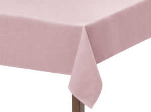 Pink Basket Weave Square Tablecloth
