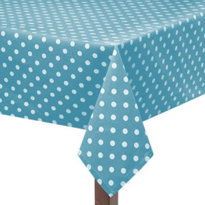 Blue Capri Square Tablecloth