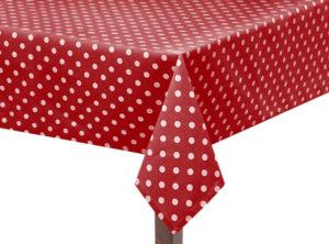 Red Capri Square Tablecloth