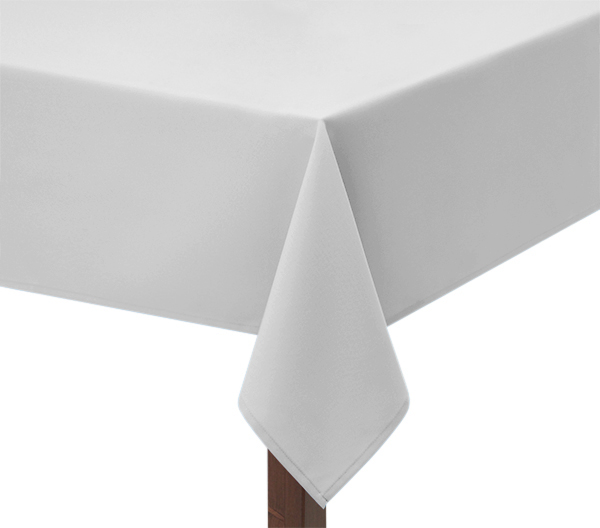 100% Heavy cotton white tablecloth
