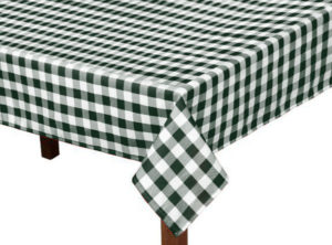 Forest Green Gingham Square Tablecloth