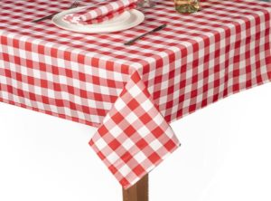 Red Gingham Square Tablecloth