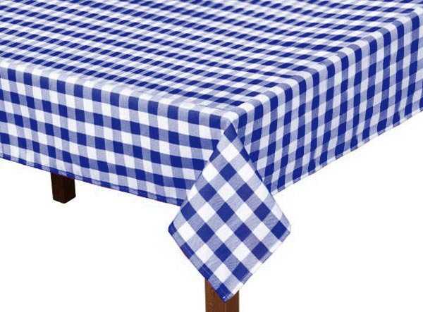 Royal Blue Gingham Square Tablecloth