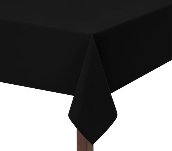 100% Heavy Cotton Black Tablecloth