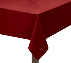 Heavy Cotton Red Square Tablecloth