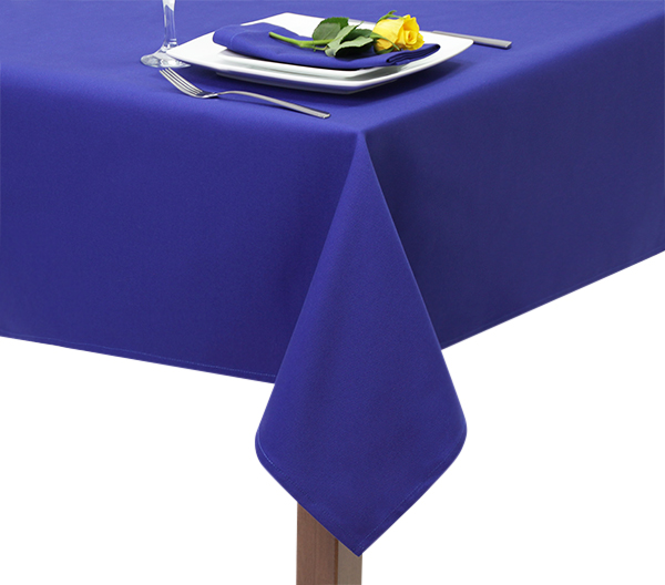 100% Heavy cot100% Heavy cotton Royal Blue tablecloth