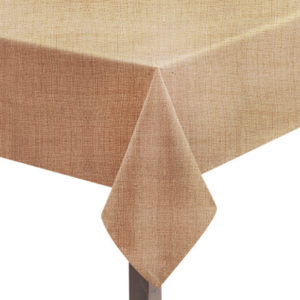 Biscuit Hessian Linen Square Tablecloth