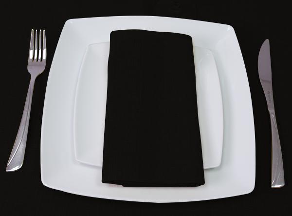 Black Napkin