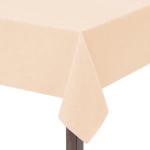 Cream Hessian Linen Square Tablecloth