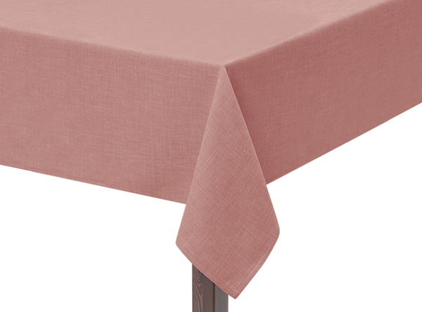 Pink Hessian Linen Square Tablecloth