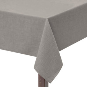 Light Grey Hessian linen square tablecloth