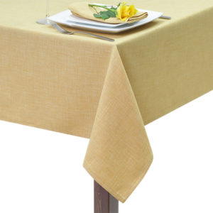 Mustard Hessian Linen Square Tablecloth