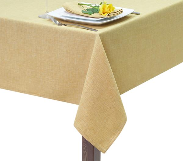 Mustard Hessian Linen Square Tablecloth