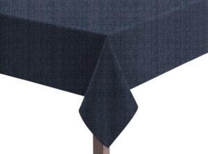 Blue Hessian Linen Square Tablecloth