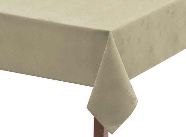 Ivory Ivy Leaf Square Tablecloth