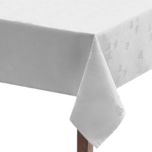 White Ivy Leaf Square Tablecloth