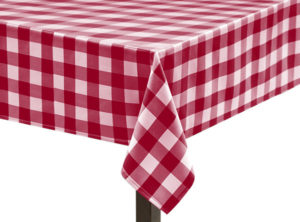 Red Gingham Large Square Tablecloth
