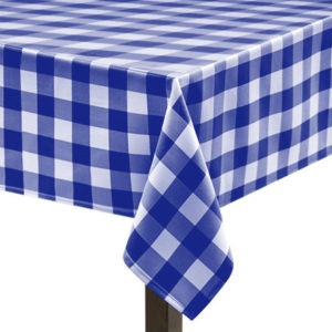 Royal Blue Gingham Large Square Tablecloth