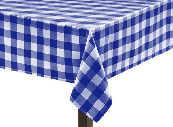 Royal Blue Gingham Large Square Tablecloth