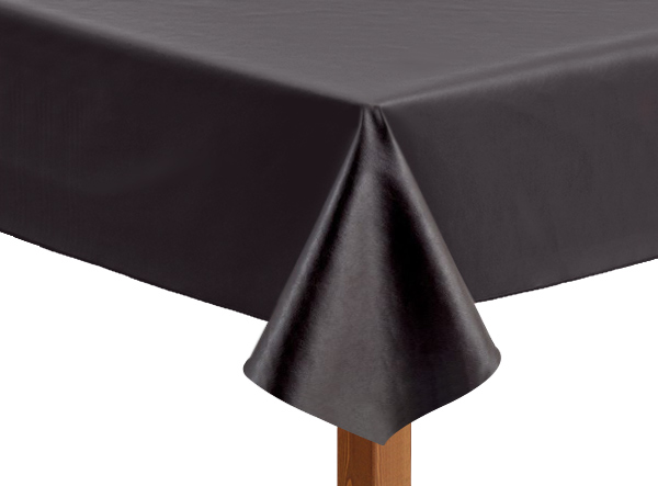 Leatherette square chocolate tablecloth